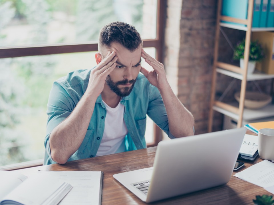 Man frustrated at managing his own rental